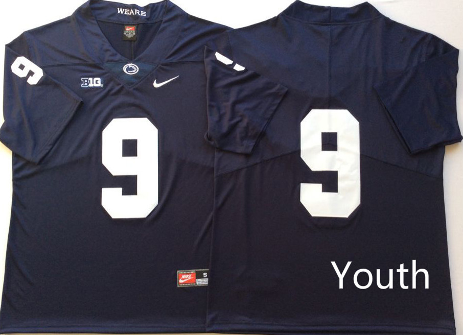 Youth Penn State Nittany Lions 9 Trace McSorley Navy Youth Nike College Football Jersey