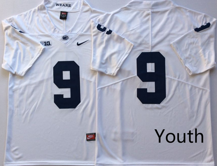Youth Penn State Nittany Lions 9 Trace McSorley White Youth Nike College Football Jersey