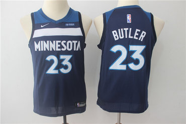 Youth Timberwolves 23 Jimmy Butler Navy Youth Nike Swingman Jersey