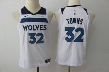 Youth Timberwolves 32 Karl-Anthony Towns White Youth Nike Swingman Jersey