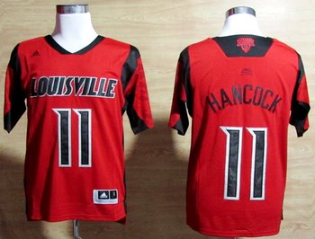 adidas Louisville Cardinals 2013 March Madness Luke Hancock 11 Authentic Jersey - red
