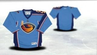 atlanta thrashers youth blue jersey (blank or customized)