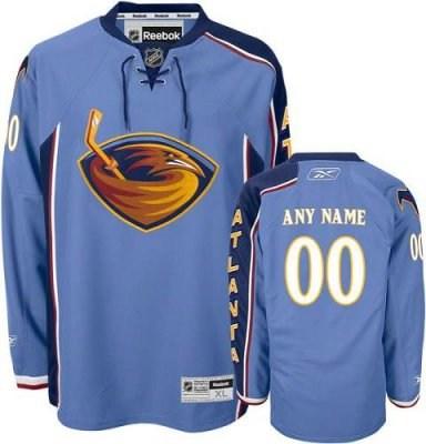 customized atlanta thrashers jersey blue home man hockey jersey