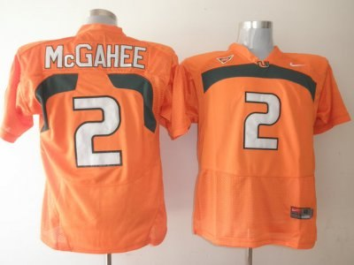hurricanes #2 willis mcgahee orange embroidered ncaa jerseys