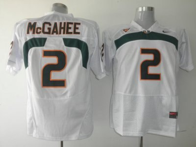 hurricanes #2 willis mcgahee white embroidered ncaa jerseys