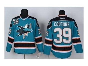 nhl jerseys san jose sharks #39 couture blue