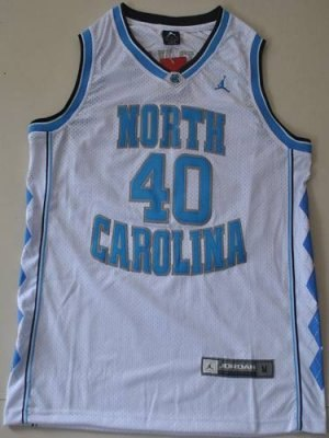 north carolina #40 harrison barnes white embroidered ncaa jersey