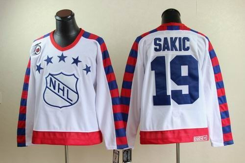 quebec nordiques 19 joe sakic all star 75th anniversary white ccm jersey